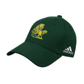 Adidas Dark Green Structured Adjustable Hat-Primary Mark