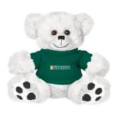 Plush Big Paw 8 1/2 inch White Bear w/Dark Green Shirt-Official Artwork