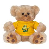 Plush Big Paw 8 1/2 inch Brown Bear w/Gold Shirt-Primary Mark