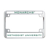 Metal Motorcycle License Plate Frame in Chrome-Monarchs