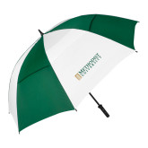 62 Inch Forest Green/White Umbrella-Official Artwork