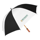 64 Inch Black/White Vented Umbrella-Official Artwork