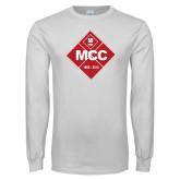 White Long Sleeve T Shirt-50 Year Mark