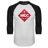 White/Black Raglan Baseball T Shirt-50 Year Mark