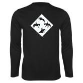 Performance Black Longsleeve Shirt-Western IHSA Team Mark