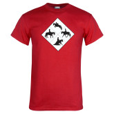 Red T Shirt-Western IHSA Team Mark