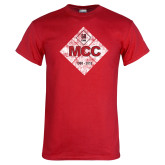 Red T Shirt-50 Year Mark Distressed