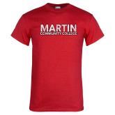 Red T Shirt-Martin Community College Distressed