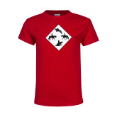 Youth Red T Shirt-Western IHSA Team Mark