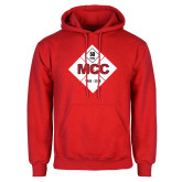Red Fleece Hoodie-50 Year Mark