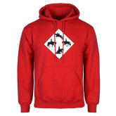 Red Fleece Hoodie-Western IHSA Team Mark