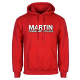 Red Fleece Hoodie-Martin Community College