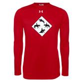 Under Armour Red Long Sleeve Tech Tee-Western IHSA Team Mark