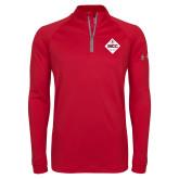 Under Armour Red Tech 1/4 Zip Performance Shirt-50 Year Mark