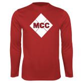Performance Red Longsleeve Shirt-Primary Mark