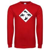 Red Long Sleeve T Shirt-Western IHSA Team Mark