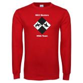 Red Long Sleeve T Shirt-Western IHSA Team Design