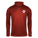 Russell Red Heather 1/4 Zip-50 Year Mark