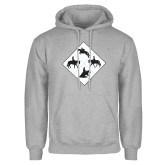 Grey Fleece Hoodie-Western IHSA Team Mark