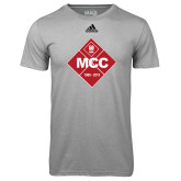 Adidas Climalite Sport Grey Ultimate Performance Tee-50 Year Mark