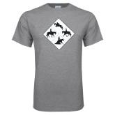 Grey T Shirt-Western IHSA Team Mark