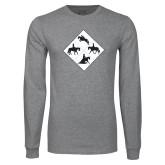 Grey Long Sleeve T Shirt-Western IHSA Team Mark