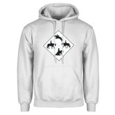 White Fleece Hoodie-Western IHSA Team Mark