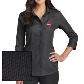 Ladies Red House Black 3/4 Sleeve Shirt-Primary Mark