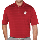 Callaway Horizontal Textured Deep Red Polo-Primary Mark