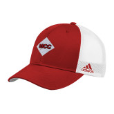 Adidas Red Structured Adjustable Hat-Primary Mark
