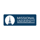 Small Decal-Missional University Stacked