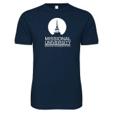 Next Level SoftStyle Navy T Shirt-Missional University Stacked