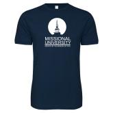 Next Level SoftStyle Navy T Shirt-Missional University Stacked
