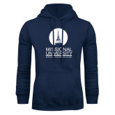 Navy Fleece Hoodie-Missional University Stacked