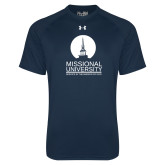 Under Armour Navy Tech Tee-Missional University Stacked