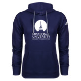 Adidas Climawarm Navy Team Issue Hoodie-Missional University Stacked