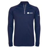 Under Armour Navy Tech 1/4 Zip Performance Shirt-Missional University Flat