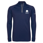 Under Armour Navy Tech 1/4 Zip Performance Shirt-Missional University Stacked