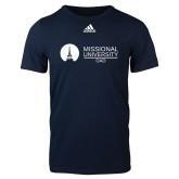Adidas Navy Logo T Shirt-Dad