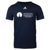 Adidas Navy Logo T Shirt-Grandpa