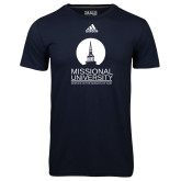Adidas Climalite Navy Ultimate Performance Tee-Missional University Stacked