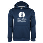 Under Armour Navy Performance Sweats Team Hoodie-Missional University Stacked