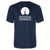 Performance Navy Tee-Missional University Stacked