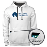 Contemporary Sofspun White Hoodie-Missional University Flat