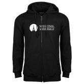 Black Fleece Full Zip Hoodie-Missional University Flat