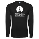 Black Long Sleeve T Shirt-Missional University Stacked