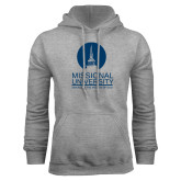 Grey Fleece Hoodie-Missional University Stacked