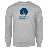 Grey Fleece Crew-Missional University Stacked