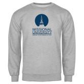 Grey Fleece Crew-Missional University Stacked