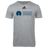 Adidas Sport Grey Logo T Shirt-Primary Mark